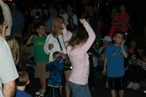 dancing at the electical parade