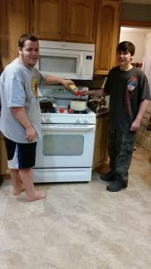joey and jacob cooking