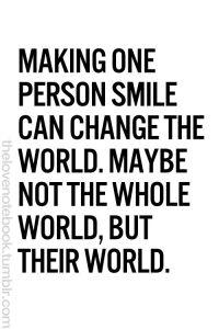 make one person smile