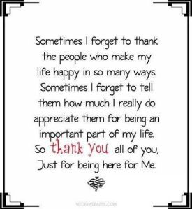sometimes thank you