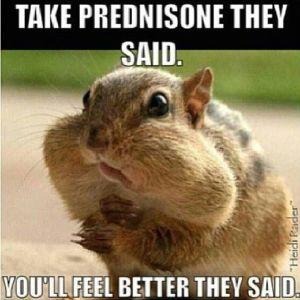 take prednisone